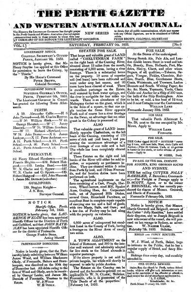 File:The Perth Gazette and Western Australian Journal 1(6).djvu