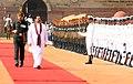 The President of Sri Lanka, Mr. Mahinda Rajapaksa inspecting the Guard of Honour, at the ceremonial reception, at Rashtrapati Bhavan, in New Delhi on June 09, 2010.jpg
