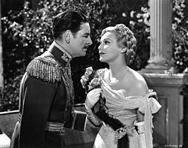 Ronald Colman en Madeleine Carroll in The Prisoner of Zenda