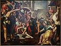 The Raising of Lazarus, by Joachim Wtewael and workshop, Netherlands, c. 1595-1600, oil on canvas - Blanton Museum of Art - Austin, Texas - DSC07901.jpg