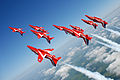 The Red Arrows display over RAF Scampton MOD 45147901.jpg