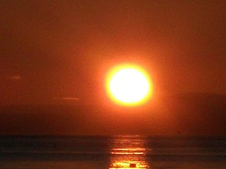Position of the Sun - The Sun as seen from Lamlash, Scotland (55° 31′ 47.43″ N, 5° 05′ 59.77″ W) on 3 January 2010, at 8:53 a.m. local time