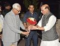 The Union Home Minister, Shri Rajnath Singh meeting the Governor of Jammu and Kashmir, Shri N.N. Vohra, in Srinagar on August 24, 2016.jpg