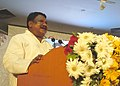 The Union Minister for Tribal Affairs, Shri Jual Oram addressing at the dedication ceremony of the wind power plants of NALCO, in Bhubaneswar, Odisha on April 15, 2017.jpg