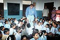 The Union Minister for Youth Affairs and Sports Shri Sunil Dutt among the children at a relief camp in Tsunami affected areas in Foreshore Estate and Besant Nagar, in Chennai on January 04, 2005.jpg
