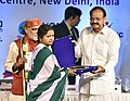 "The Vice President, Shri M. Venkaiah Naidu presenting the awards to Asha Worker Community Nurse, at the 15th World Rural Health Conference with the theme ""Healing the Heart of Healthcare - Leaving no one behind"", in New Delhi.JPG"