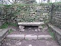 The altar stone in Madron Chapel - geograph.org.uk - 1185878.jpg