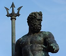 The bronze figure of Neptune, Fountain of Neptune, Bologna.jpg