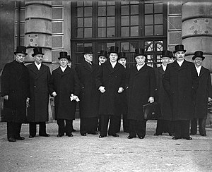 Per Albin Hansson - Image: The cabinet of Sweden 1939 and prime minister Hansson