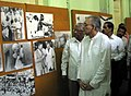 The former Governor of West Bengal, Justice (Retd.) Shri Shyamal Kumar Sen inaugurated a pictorial exhibition entitled 'Mahatma Gandhi', organized by Directorate of Advertising & Visual Publicity.jpg
