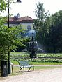 The fountain in Kungsparken Malmö, with the Casino as a backprop - panoramio.jpg