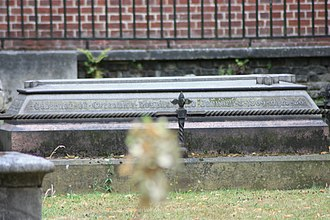 James Gordon (Royal Navy officer) - The grave of Sir James Gordon RN, Greenwich Hospital (telephoto)