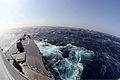 The guided missile destroyer USS McCampbell (DDG 85) sails through rough seas in the Pacific Ocean March 2, 2013, while supporting exercise Foal Eagle 2013 130302-N-TG831-172.jpg