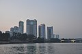 The view of the Changjon Street residential buildings from the Taedong River in Pyongyang (10091214006).jpg