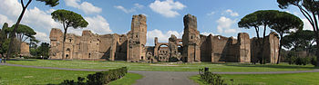 English: Panorama of the Thermae of Caracalla ...