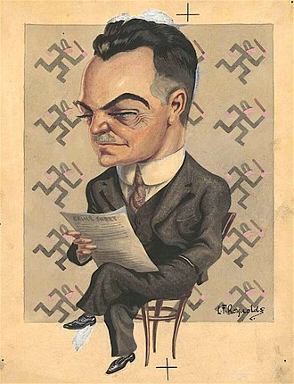 Thomas Blamey - Caricature of Blamey published in 1926