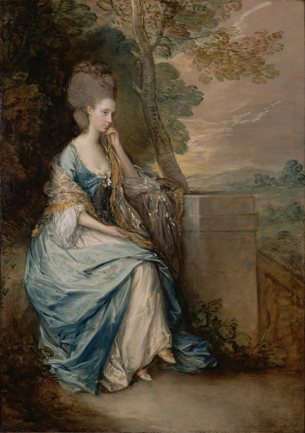 Thomas Gainsborough (English - Portrait of Anne, Countess of Chesterfield - Google Art Project