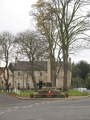 Thorp Arch, West Yorkshire - Village green and war memorial