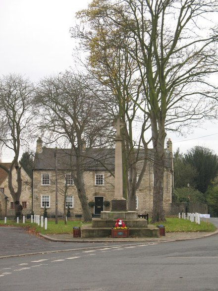 Village green and war memorial Thorp Arch.jpg