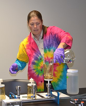 A tie-dyed lab coat Tie-dyed lab coat.jpg