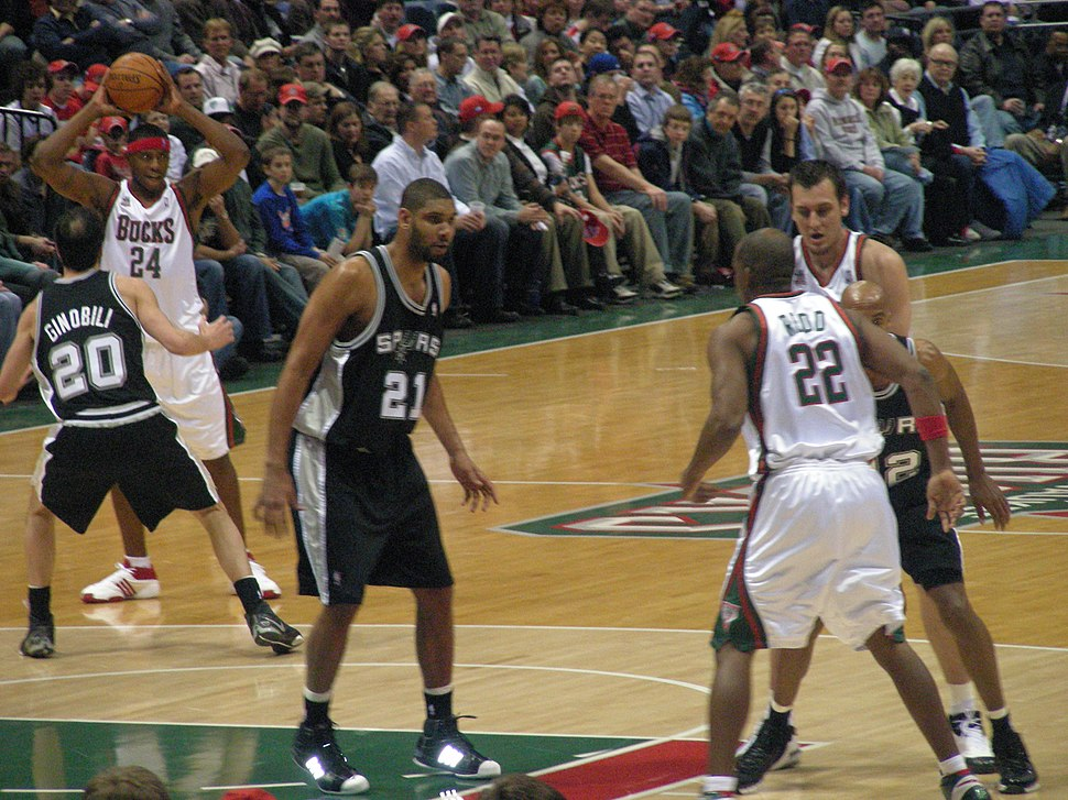 Tim Duncan in the paint