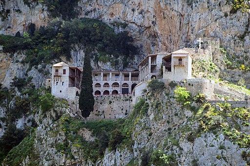 Timios Prodormos monastery closeup, Arcadia, Greece