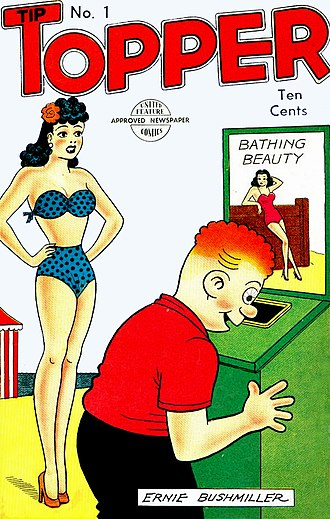 United Feature Syndicate - Fritzi Ritz and Phil Fumble, Tip Topper no. 1, October, 1949.