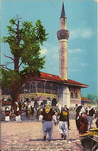 Sulejman Pasha Mosque - The Old mosque in 1914, 300 years after its construction