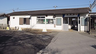 Narushima Station (Gunma) - The building of the station in December 2014