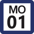 Tokyo Monorail MO-01 station number.png