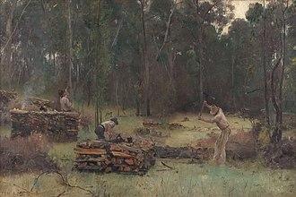 Art Gallery of Ballarat - Image: Tom Roberts Wood Splitters, 1886 2
