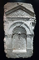 tomb stela with a Coptic cross