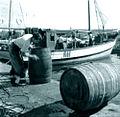 Tonneaux de vin sur le port de Limassol.jpg