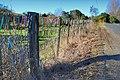 Toothbrush fence in in Te Pahu, Waikato, New Zealand.jpg