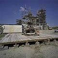 Toren, tijdelijk van het badpaviljoen afgehaald, in de steigers, tijdens restauratie werkzaamheden - Domburg - 20378337 - RCE.jpg