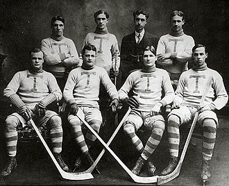 Toronto Professional Hockey Club - Toronto Professionals in the 1906–07 season. Back row: William Slean, Jack Carmichael, B. Spanner, team captain Bruce Ridpath. Front row: Rowley Young, Charlie Liffiton, Harry Burgoyne, Hugh Lambe.