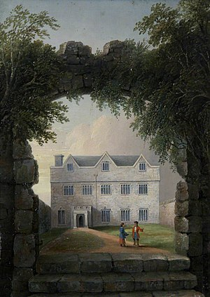Manor of Tor Mohun - Torwood House, Tor Mohun, residence of the Ridgeway family. Demolished 1840s. Painted by John Wallace Tucker (1808–1869)