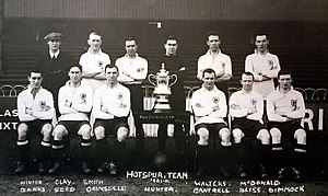 1921 FA Cup Final - The winning side posing with the Cup