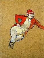 Toulouse-Lautrec - La Macarona in Riding Habit, 1893.jpg