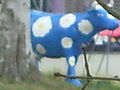 Toy blue cow on North Downs Way.jpg