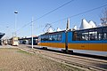Tram in Sofia in front of Central Railway Station 2012 PD 073.jpg