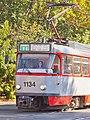 Tram in Sofia in front of Tram depot Banishora 007.jpg