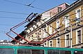 Tram in Sofia near Central mineral bath 2012 PD 077.jpg