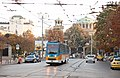 Tram in Sofia near Palace of Justice 2012 PD 018.jpg