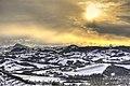 Tramonto sulle campagne innevate di Castellarano.jpg