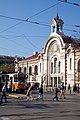 Trams in Sofia in front of Central Market Hall 2012 PD 024.jpg