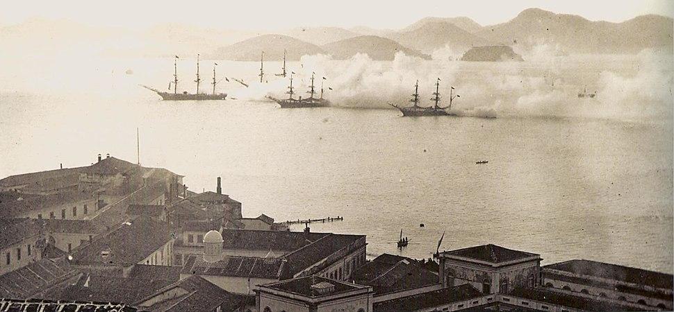 Treino da armada brasileira 1870