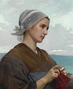 Tricoteuse Bretonne, by William-Adolphe Bouguereau.jpg