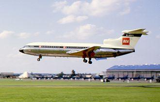 British European Airways Flight 548 - Image: Trident 62