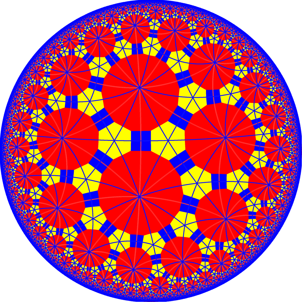 Truncated trioctagonal tiling with mirrors
